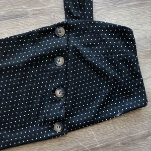 Free People Tops - NEW Free People Buttoned Crop Top polka dot L